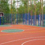 База с баскетболом